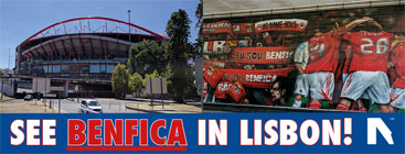Benfica football tickets & tours